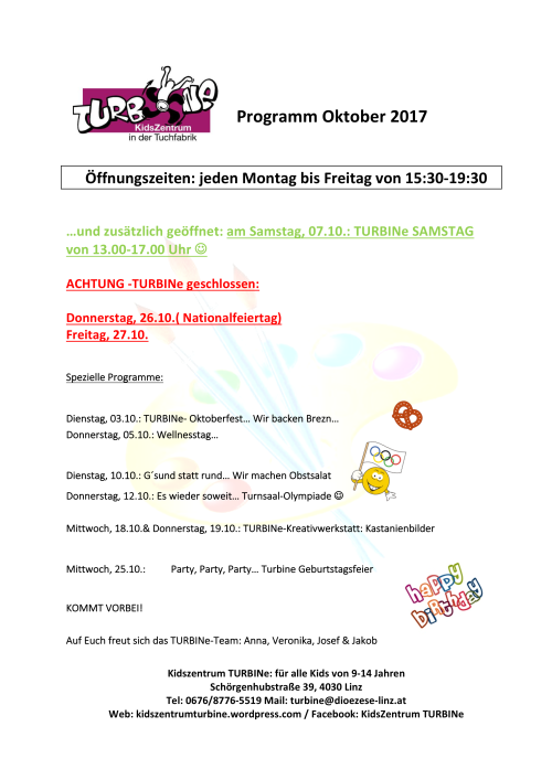 Programm Oktober 2017